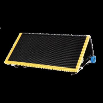 800mm Black Escalator Stainless Steel Step With 3 Side Yellow Plastic Strip