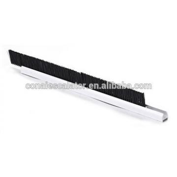 CNSB-006B cheap SJEC 20 mm Aluminum base Escalator safety skirt panel brush in up circular arc with single Nylon brush