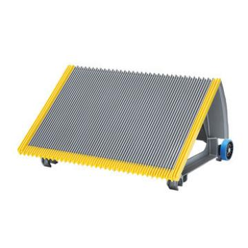 600mm Gray Escalator Aluminum Step With Navy-blue Roller