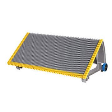 800mm Gray Escalator Aluminum Step With Navy-blue Roller