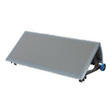 100mm Gray Escalator Stainless Steel Step With Navy-Bule Roller