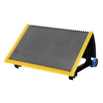 600mm Black Escalator Aluminum Step With Navy-blue Roller