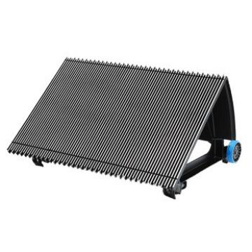 600mm Black Escalator Aluminum Step Without Demarcation