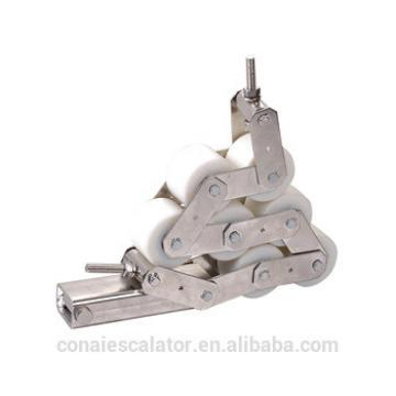 CNHC-014 Escalator Handrail Pressure Chain with 7 white Rollers 76*54mm - 6201 bearing