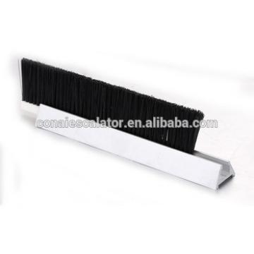 CNSB-013 Escalator safety skirt panel brush in straight line with single Nylon brush and 27 mm Aluminum base