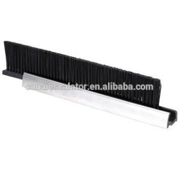 CNSB-010 Escalator safety skirt panel brush in straight line with single Nylon brush and 20 mm Aluminum base