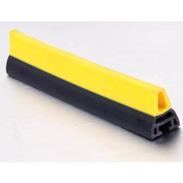 CNSB-021 Escalator safe straight line skirt panel brush with yellow plastic brush and 25 mm plastic base