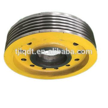 China manufacture elevator parts with cast-iron elevator wheels,accessories parts of xizi elevator