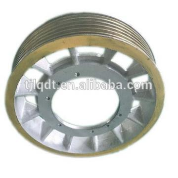 Mitsubishi traction elevator wheel ,elevator lift parts,620*6*12 electric lift