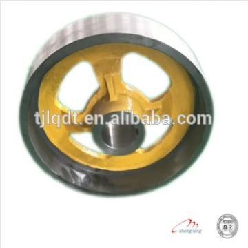 There is a quality guarantee of lift brake wheel,elevator wheel lift sheave350/370A