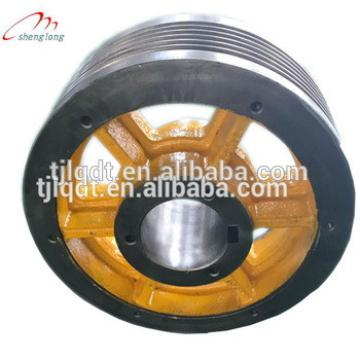 Quality quality elevator accessories, factory direct sales, ductile iron's elevator traction wheel