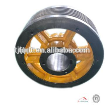 Energy-saving household elevator cast iron wheels traction wheel of elevator parts