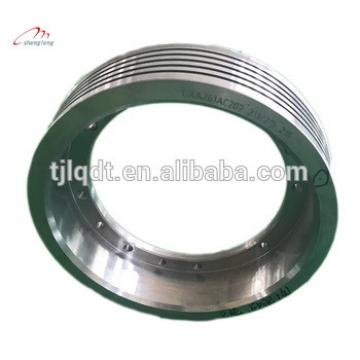 China Manufactury high quality lifting equitment and elevator traction wheels of elevator parts