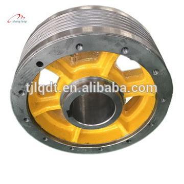 Thyssen elevator traction wheel,cast iron wheels,lifts elevator parts