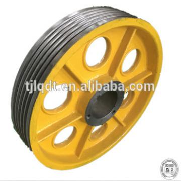 high speed T main machine traction wheel for elevator ,lift spare parts wheel