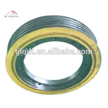 Mitsubishi permanent magnet traction wheel,elevator pulley manufacturer