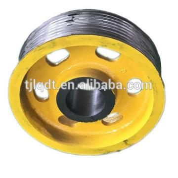 Elevator friction wheel or traction sheave,used elevator parts,electric lift