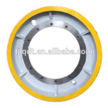 Strong bearing force's elevator componet spare parts,elevator traction wheel