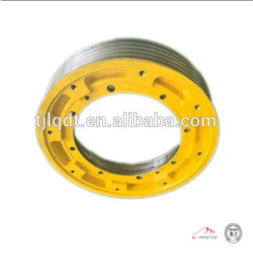Safe operation of the elevator wheel , elevator traction wheel 410*(4-6)*10
