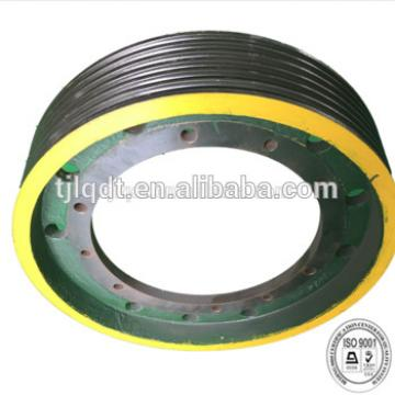 China manufacture kone lifts elevator traction wheel ,elevator spare parts