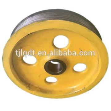 elevator traction sheave and cast iron wheels of elevator lift parts