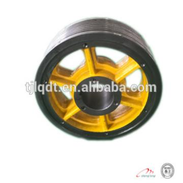 elevator wheel with traction sheave of cast iron elevator parts