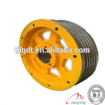 Quality guaranteed ductile iron lift parts, elevator traction wheel ,420*5*10,420*6*10