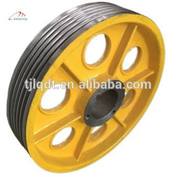 High speed T elevator accessories parts wirh elevator traction sheave