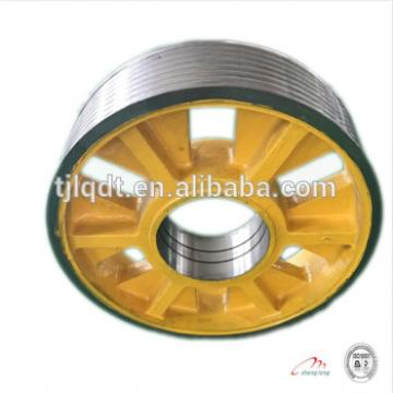 Fujitec elevator wheel,elevator lift spare parts,elevator rope wheel diversion sheave