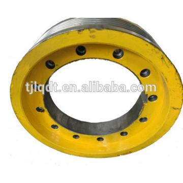 The traction elevator wheel 480*5*12 Diameter 480,7 Grooves,12Rope s