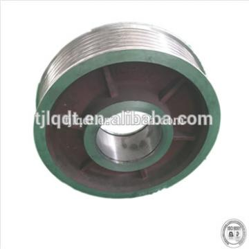 Real estate traction elevator wheel with elevator parts