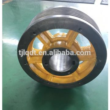 Mitsubishi permanent magnet traction elevator wheel,elevator parts,Mitsubishi parts