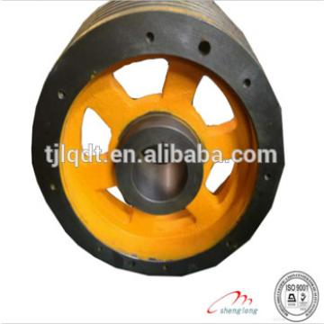 Thyssen high quality cast iron elevator wheels and traction sheave of elevator parts