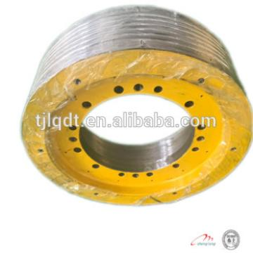 The cast iron elevator parts wheels , traction wheel for elevator , elevator lift parts ,480*5*12