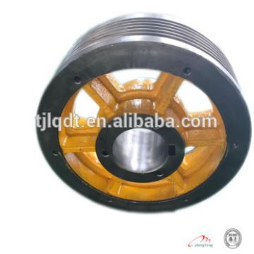 The cast iron elevator lift wheel elevator spare parts,traction elevator wheel,410*5*10