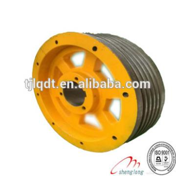 Thyssen elevator wheel with elevator traction wheel and elevator lift parts