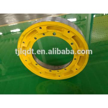 OT1S elevator parts ,traction elevator wheel,cast iron lift sheave