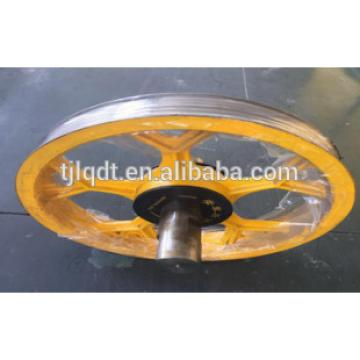 high quality guide pulley elevator wheel with elevator spare parts