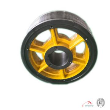 elevator spare parts, traction wheel for elevator cast iron elevator lift wheel