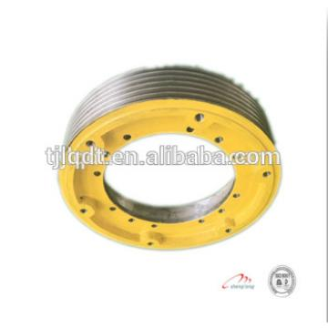 Running smooth and safe ductile iron elevator towing wheel400*5*10