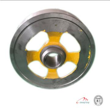 The brake wheel for ot1s with elevator spare parts and cast iron elevator wheel