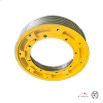 Construction elevator cast iron wheels and traction sheave of elevator parts