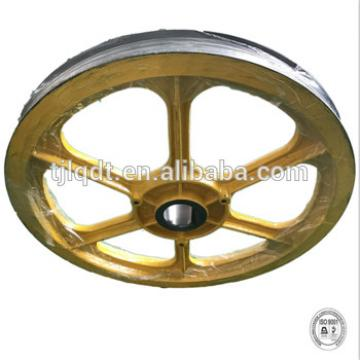 The safe high quality aperture is 80, and the tonnage is 800-1000kg,elevator traction wheel
