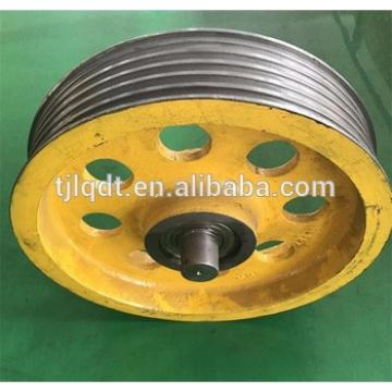 Construction passenger lift or elevator lift guide pulley wheel for elevator parts