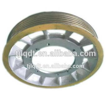 cast iron high quality mitsubishi elevator traction wheel ,elevator lift spare parts
