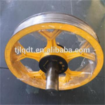 Good elevator wheel lift sheave,cast iron wheel casting, guide pulley elevator wheel ,