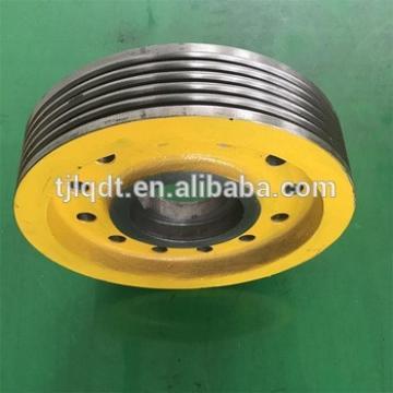 xizi elevator parts with elevator wheel ,elevator lift traction sheave