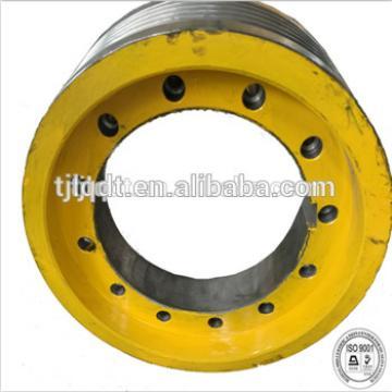 XIZI elevator wheel lift sheave, ductile cast iron's elevator traction wheel 450*5*10