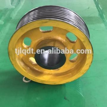 Toshiba lifting equipment elevator wheel cast iron traction sheave lift elevator parts