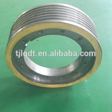 Mitsubishi cast iron wheels permanent magne elevator wheel of elevator parts